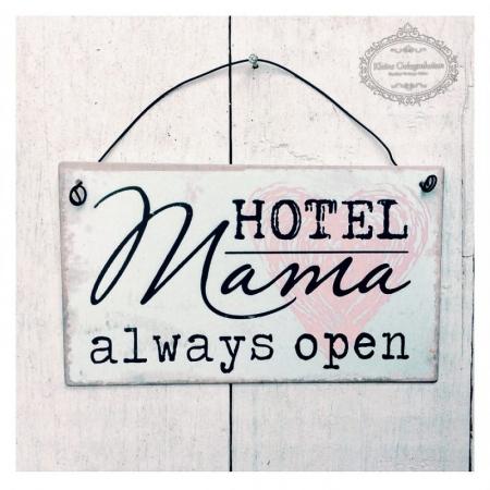 MetallSchild * Hotel Mama Türschild