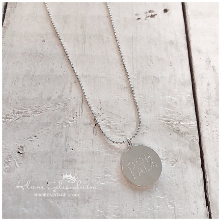 Joma Jewellery HalsKette * Plakette * Silber