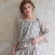 Bluse Spitze Grau Jeanne d'Arc Living Vintage Gr.M