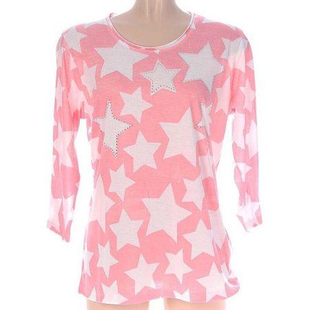 Zwillingsherz Shirt Rosa Sterne Gr.42-44
