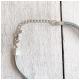 Zwillingsherz Halskette Medaillon Hellgrau Silber