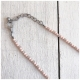 Zwillingsherz Halskette Herz Perlen Rosa