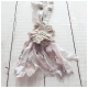 Jeanne d'Arc Living Halskette Stoff Blumen Rosa Cream