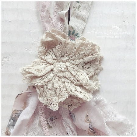 Halskette Stoff Blumen