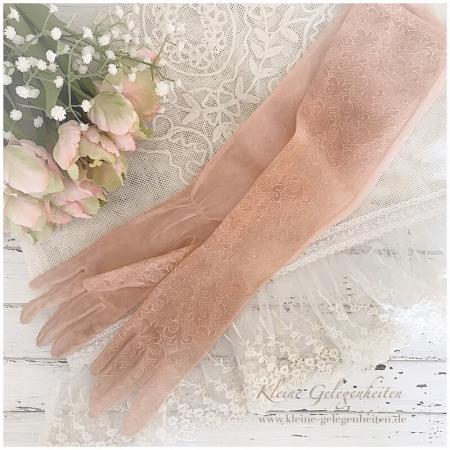 Jeanne d'Arc Living Vintage Handschuhe mit Stickerei