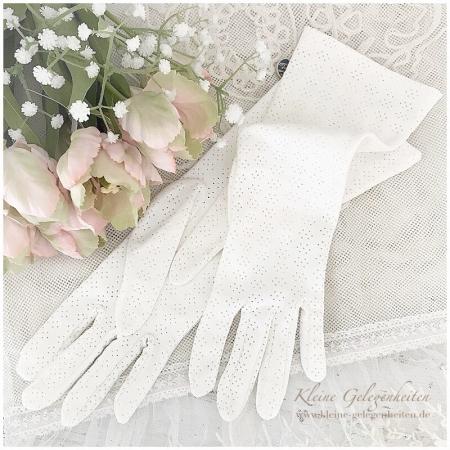 Jeanne d'Arc Living Vintage Handschuhe mit Lochmuster