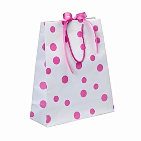 GeschenkTasche Gross Weiss Pink Luxury