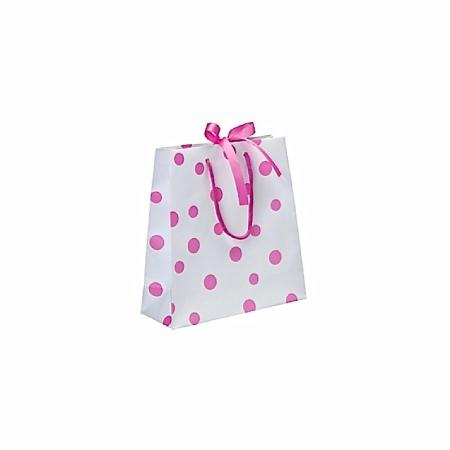 GeschenkTasche Klein Weiss Pink Luxury