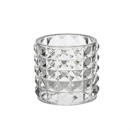 Windlicht Facetten Glas Klar