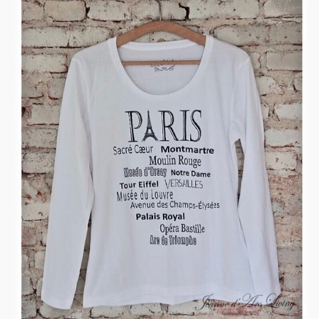 SHIRT Paris weiß Jeanne d'Arc Living