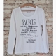 Shirt Weiss Motiv Jeanne d'Arc Living Gr.M