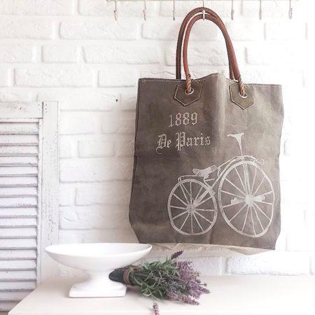 Tasche Shopper Vintage Fahrrad
