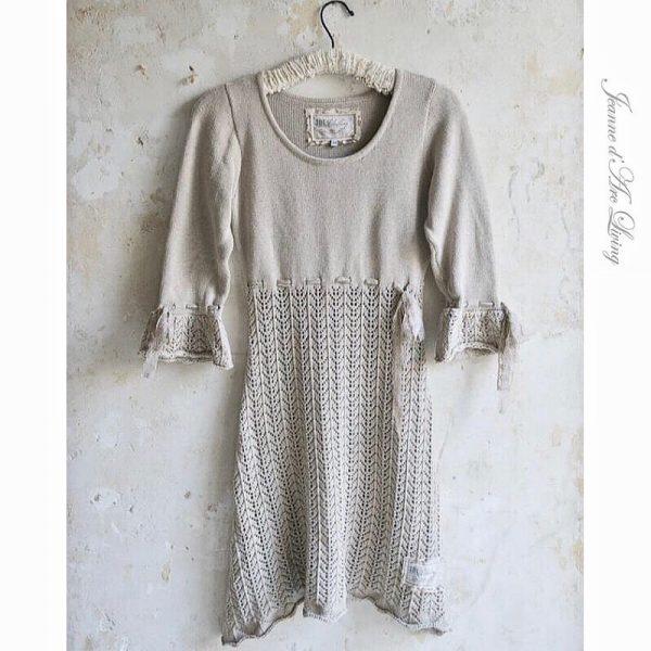 big sale 3daee 6ad48 Kleid Strick Beige Jeanne d'Arc Living Vintage Gr.XL-XXL