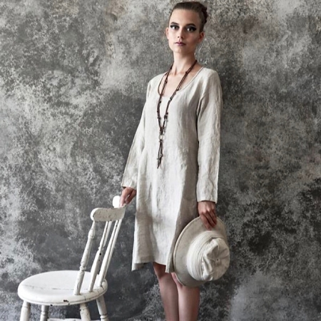 LEINENKLEID Kleid Natur Jeanne d'Arc Living