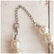 Zwillingsherz HalsKette mit Perlen