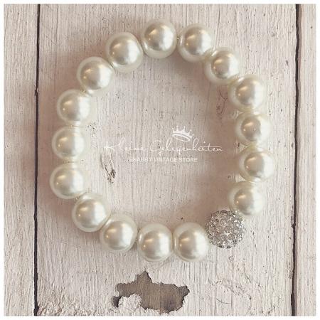 Zwillingsherz Armband mit Perlen