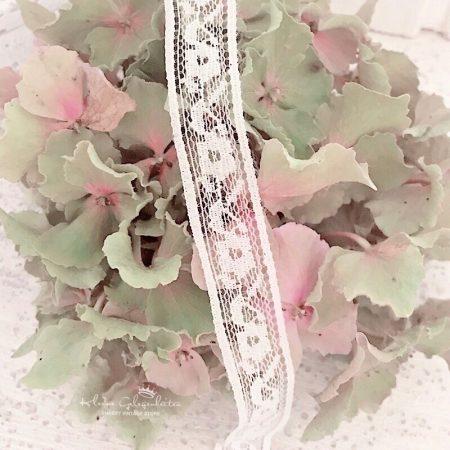 Jeanne d'Arc Living Spitzenband Weiss Blüten