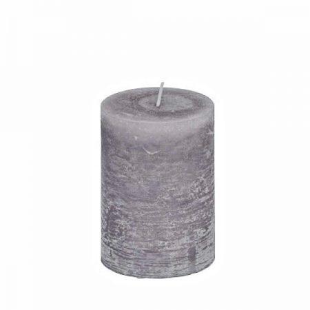 Kerze Rustikal Grau Klein
