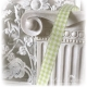 KAROBAND Hellgrün Weiß L.2m