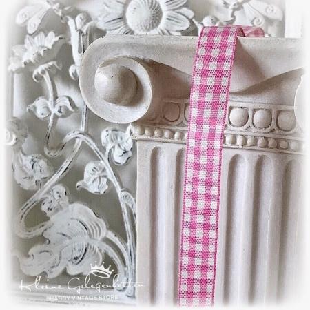 KAROBAND Schleifenband Rosa Weiß