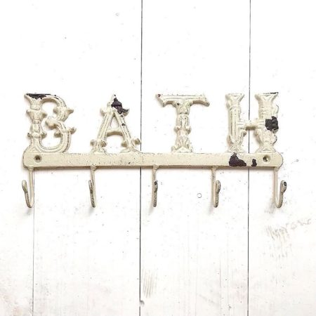 Clayre & Eef GarderobenLeiste BATH 5 Haken