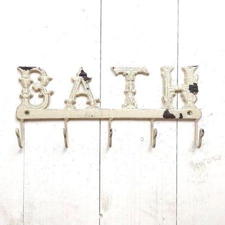 Clayre & Eef * GarderobenLeiste BATH Eisen Antik Cream 5 Haken