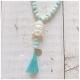 Sarabella Halskette Buddha Perlen Türkis Cream