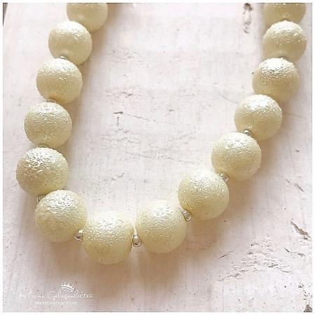 Perlenkette Kette gefrostet Sarabella