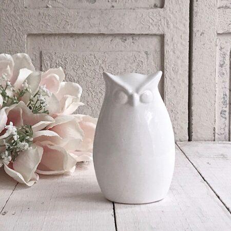 Figur Eule aus Keramik