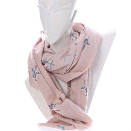 Zwillingsherz Schal in Rosa mit Sterne