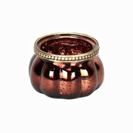 WindLicht Glas MetallRand Bronze