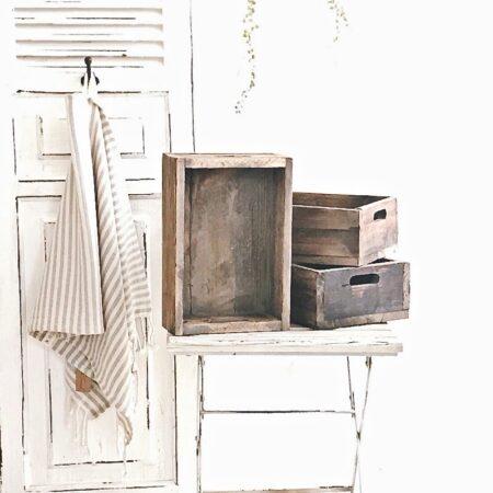 rustikale HolzKiste Antik Braun