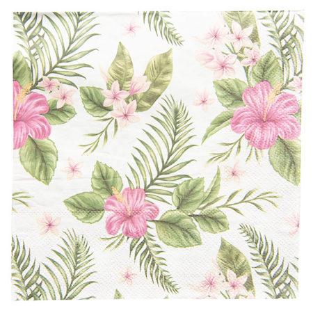 Clayre & Eef * PapierServietten Blüten & Blätter