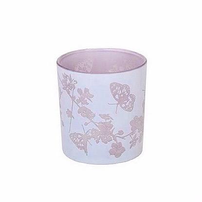 Teelichtglas Flieder Ø 7,5*8cm
