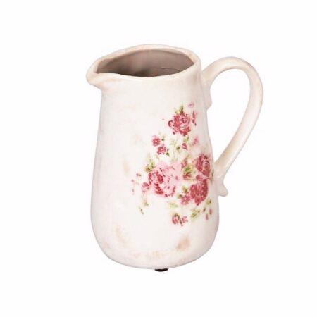 Krug Keramik Vintage Rosen
