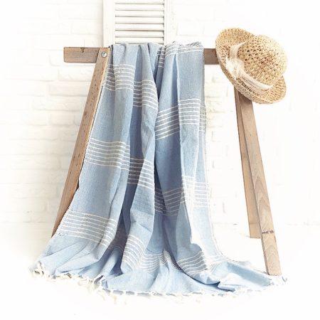 Clayre & Eef Plaid Blau Streifen