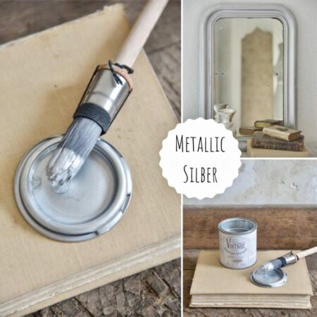 Jeanne d'Arc Living Kreidefarbe Metallic Silber