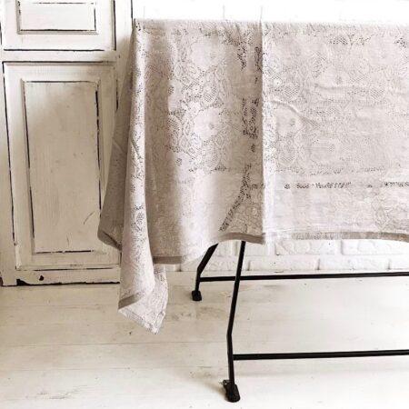 Jeanne d'Arc Living * Tischdecke Spitze Taupe rechreckig Tischtuch