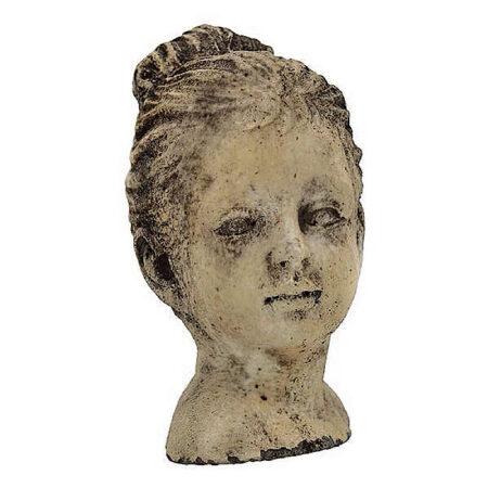 FrauenBüste Antik Braun 11*9*H.16cm