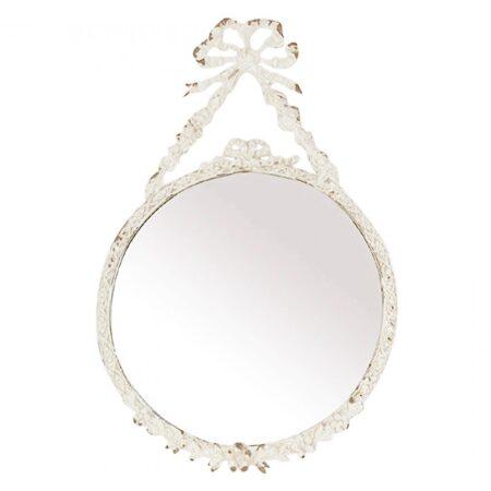 Chic Antique Spiegel mit Rosen Antik Weiss