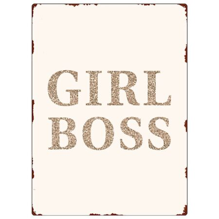 Interluxe MetallSchild GIRL BOSS