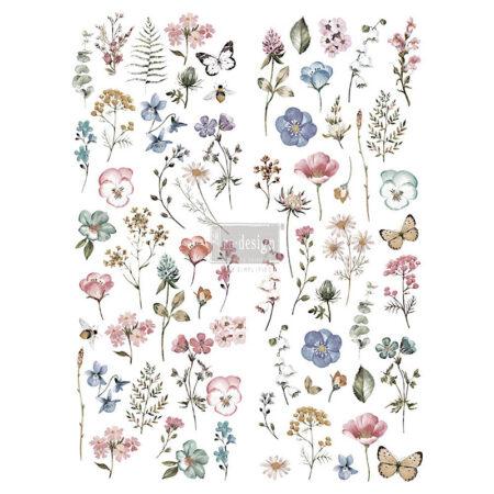 Jeanne d'Arc Living Transfer Papier – Zarte Blumen & Blätter