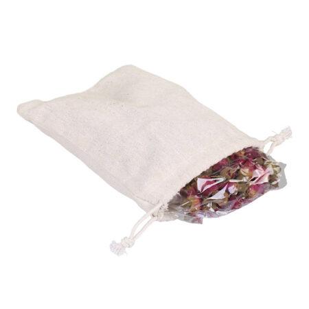 getrocknete Rosen im LeinenSack Chic Antique