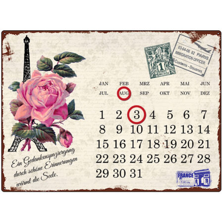 Interluxe Kalender Metall Paris