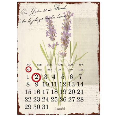 Interluxe Kalender Metall Lavendel