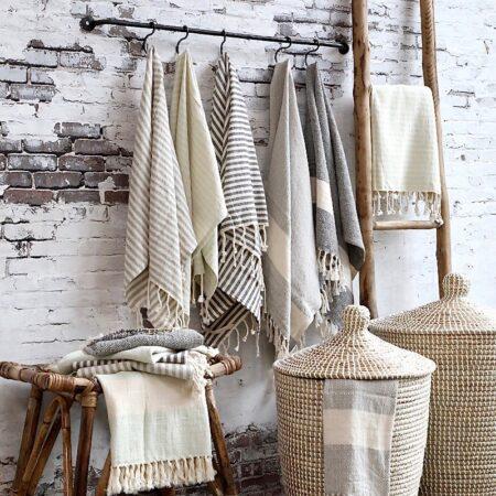 Chic Antique Handtuch Hammam mit Streifen