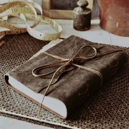 Jeanne d'Arc Living Notizbuch Leder schmales Bindeband