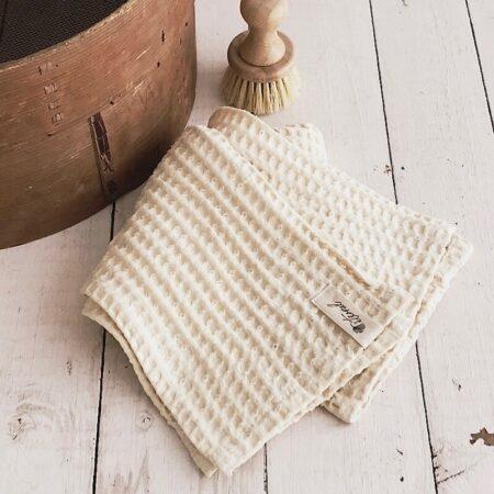 Chic Antique Handtuch Waffelstruktur Cream