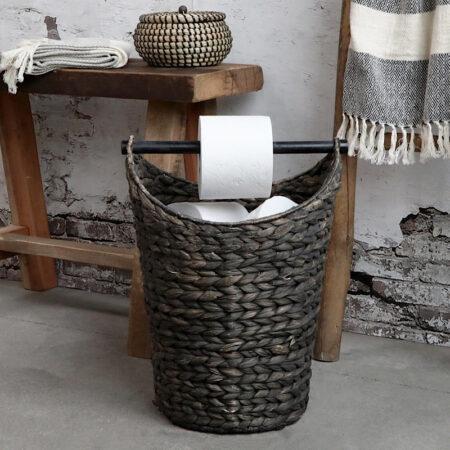 Chic Antique Korb mit Toilettenpapierhalter